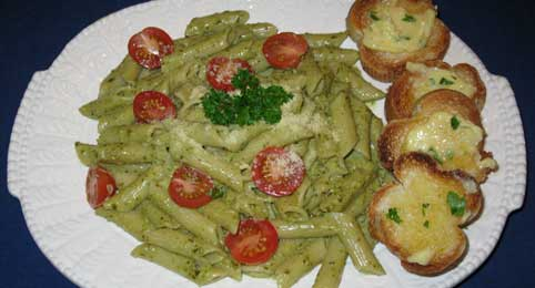 Karen's Easy Pesto Pasta