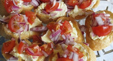 Karen's Camembert Bruschetta